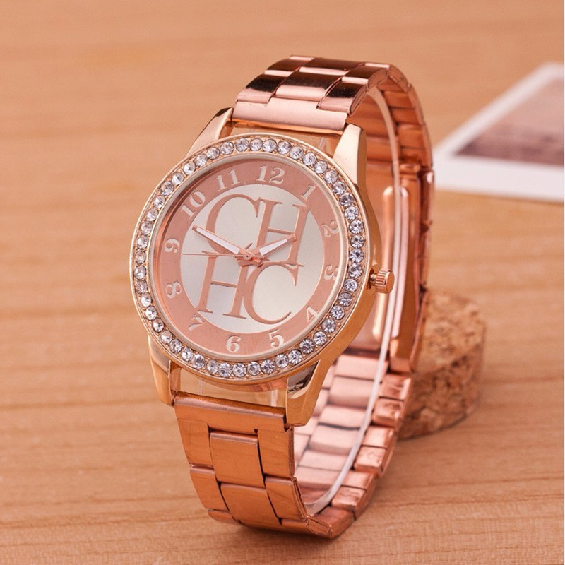 Reloj Mujer New Brand Famous Luxury Watch Women Fashion Crystal Dress Quartz Watches Women Stainless Steel Hot Watches 2020