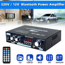 800W AK35 Digital Home Amplifier Bluetooth Hifi Stereo Music Player Support smart phone tablet Aux 2 Channel With Remote Control