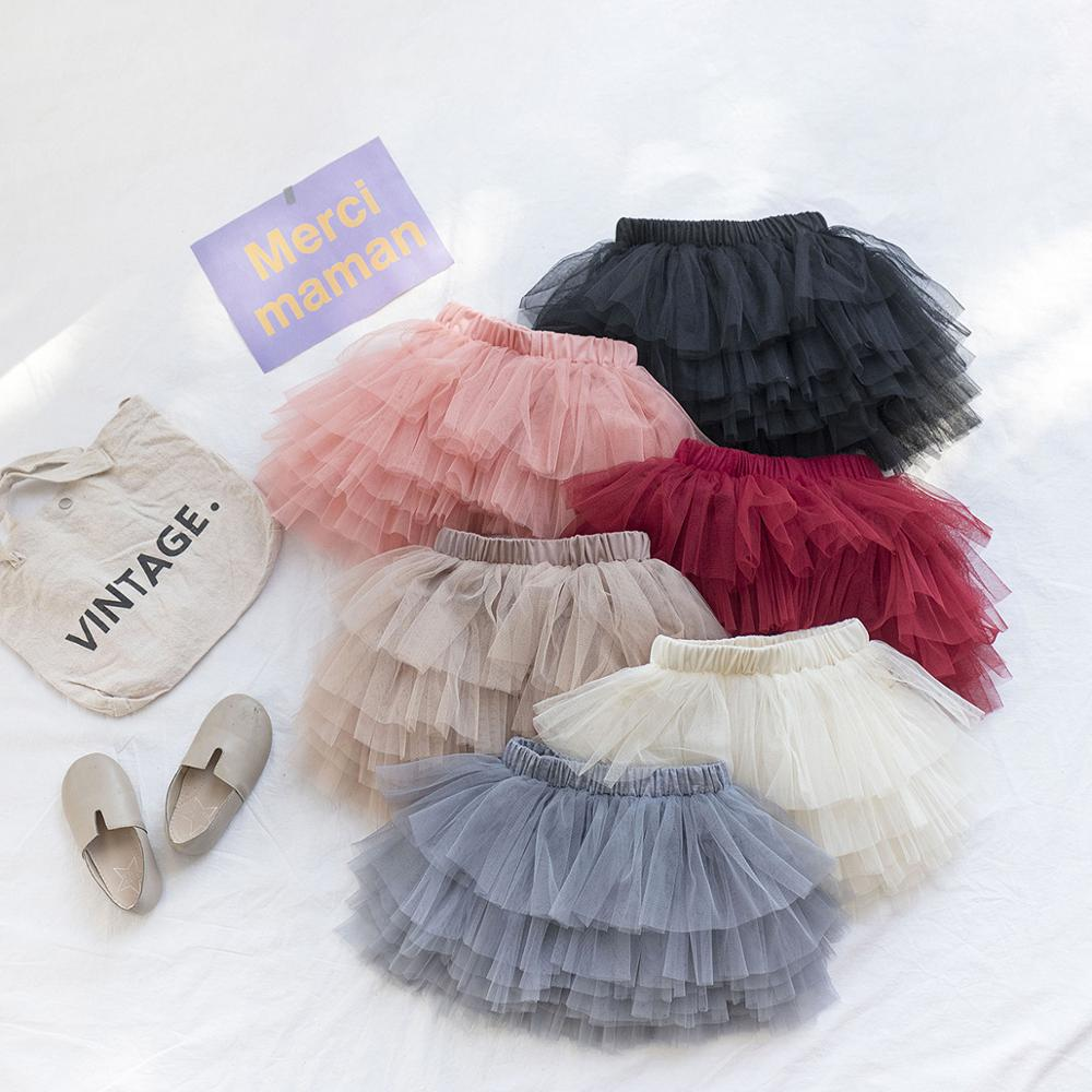Fashion Girls Tutu Fluffy Skirt Princess Ballet Dance Tutu Mesh Skirt Kids Cake Skirt Cute Girls Clothes DT081 6