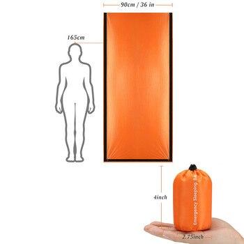 Waterproof Lightweight Thermal Emergency Sleeping Bag Bivy Sack - Survival Blanket Bags Emergency Tent Emergency Kit Supplies 12