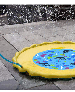 Image 5 - 170cm Inflatable Spray Water Cushion Summer Kids Play Water Mat Lawn Games Pad Sprinkler Play Toys Outdoor Tub Swiming Pool