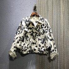 Loose Jacket Women 2020 Spring New Cool Leopord Pattern Casual Short Coat Women'