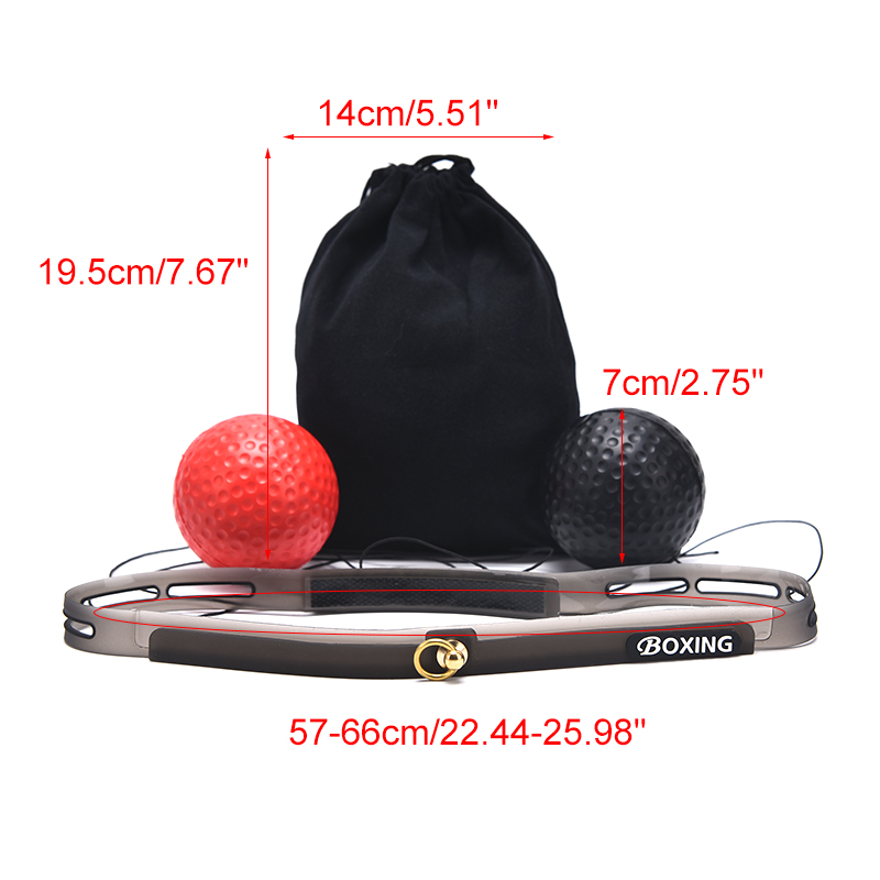 Fight Ball Reflex Boxing REACT Training Boxer Speed Punch Head Cap String Bal BE