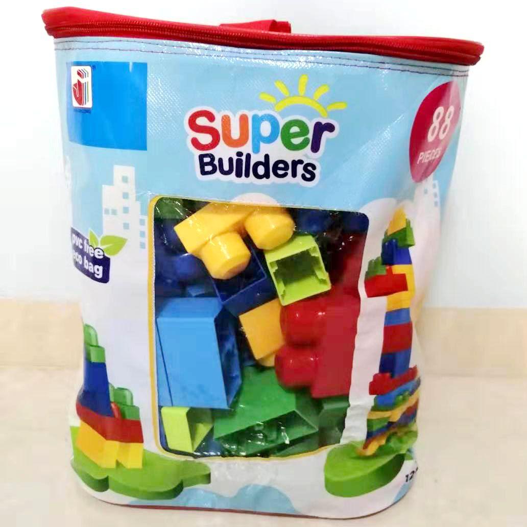 Diy Blok Pembelajaran Binaan Permainan Kanak Kanak Super Mega Builders Large Block Building Blocks Kids Toys 88 Pieces Blocks Aliexpress