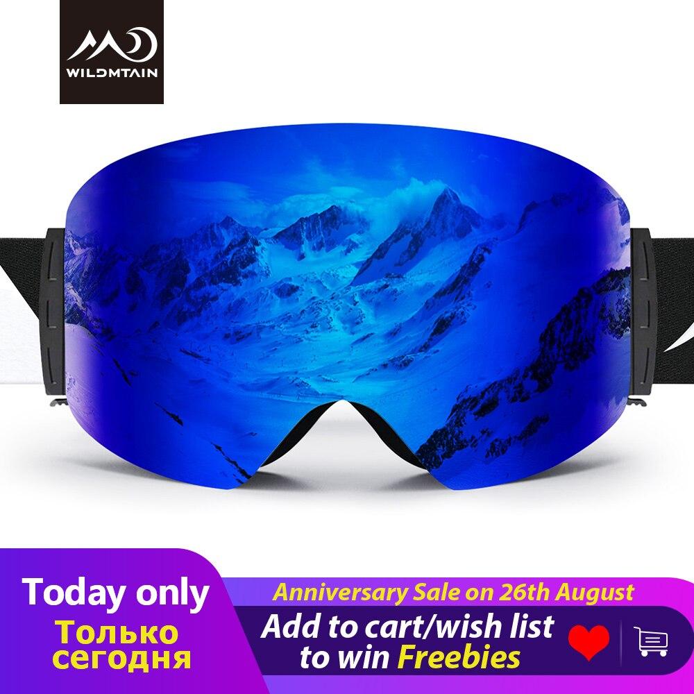 WILDMTAIN Óculos De Esqui Mais com Caixa Dura 100% OTG Sobre Óculos Óculos de Proteção UV Anti-fog de Esqui Snowboard Óculos De Proteção para das Mulheres dos homens