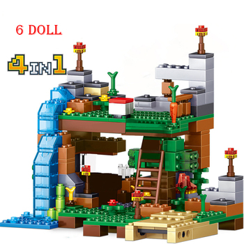 368pcs Compatible Lepining MinecraftINGLys My World Dolls Building Blocks Toys for Boys Gift Kids Child toy 957pcs my world figures toy building blocks compatible with legoed minecrafted city diy bricks toy gift for boy girl gift new