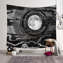 Hindistan Mandala goblen duvar asılı hippi Psychedelic goblen doğa güneş ay harita büyücülük Tarot duvar Boho dekor yatak odası halı