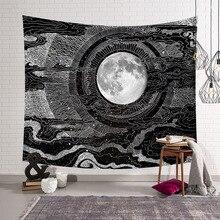 Tapiz de pared de Mandala de la India, tapiz psicodélico Hippie, mapa de Luna y sol natural, Tarot de brujería, decoración de pared Bohemia, Alfombra de dormitorio