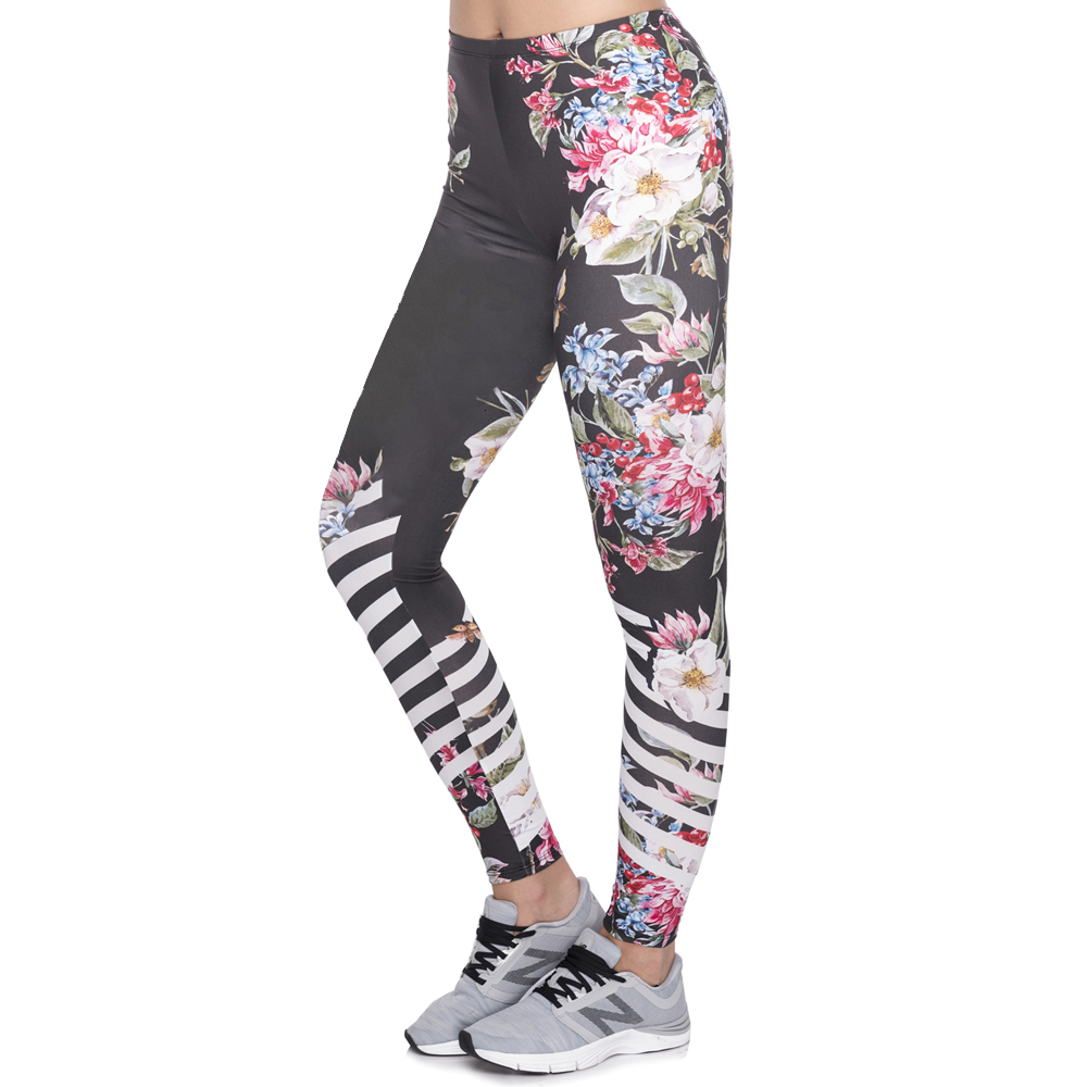 New Design Leggins Mujer With Multicolor Pattern 3D Printing Legging Fitness Feminina Leggins Woman Pants Workout Leggings