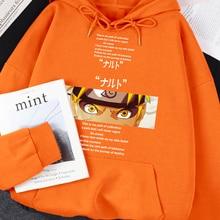 Hoodie Oversize-Hoody Naruto Warm-Clothing Manga-Print Swearshirt Personality Fashion