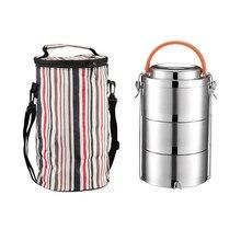 Новое поступление, вакуумный изоляционный Ланч-бокс из нержавеющей стали, 2-4 слоя, большая емкость, Bento box, школьный офисный пищевой контейнер для кемпинга