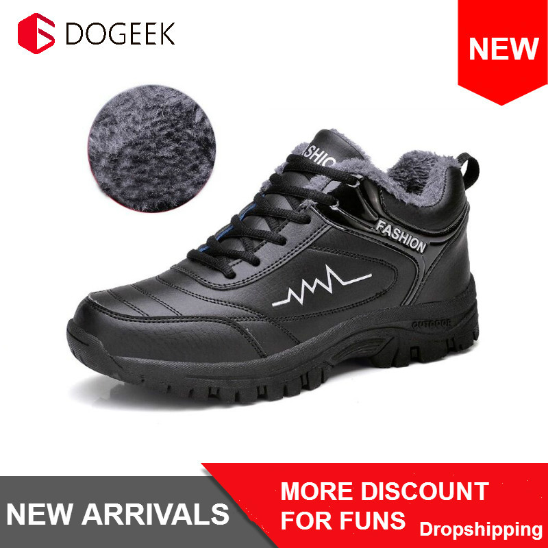 NEW Men Winter Boots Shoes Warm Fashion Sneakers Winter Outdoor High Quality Men Snow Boots Casual Shoes Men Botas De Hombre