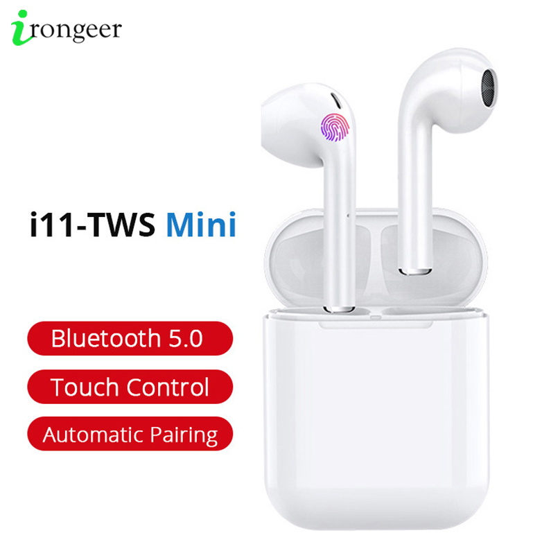 <font><b>i11</b></font> <font><b>Tws</b></font> Mini <font><b>Wireless</b></font> <font><b>Bluetooth</b></font> <font><b>5.0</b></font> <font><b>Earphone</b></font> Earbuds With Mic Charging Box Sport Headset For iPhone XR 11 Smart Phone image