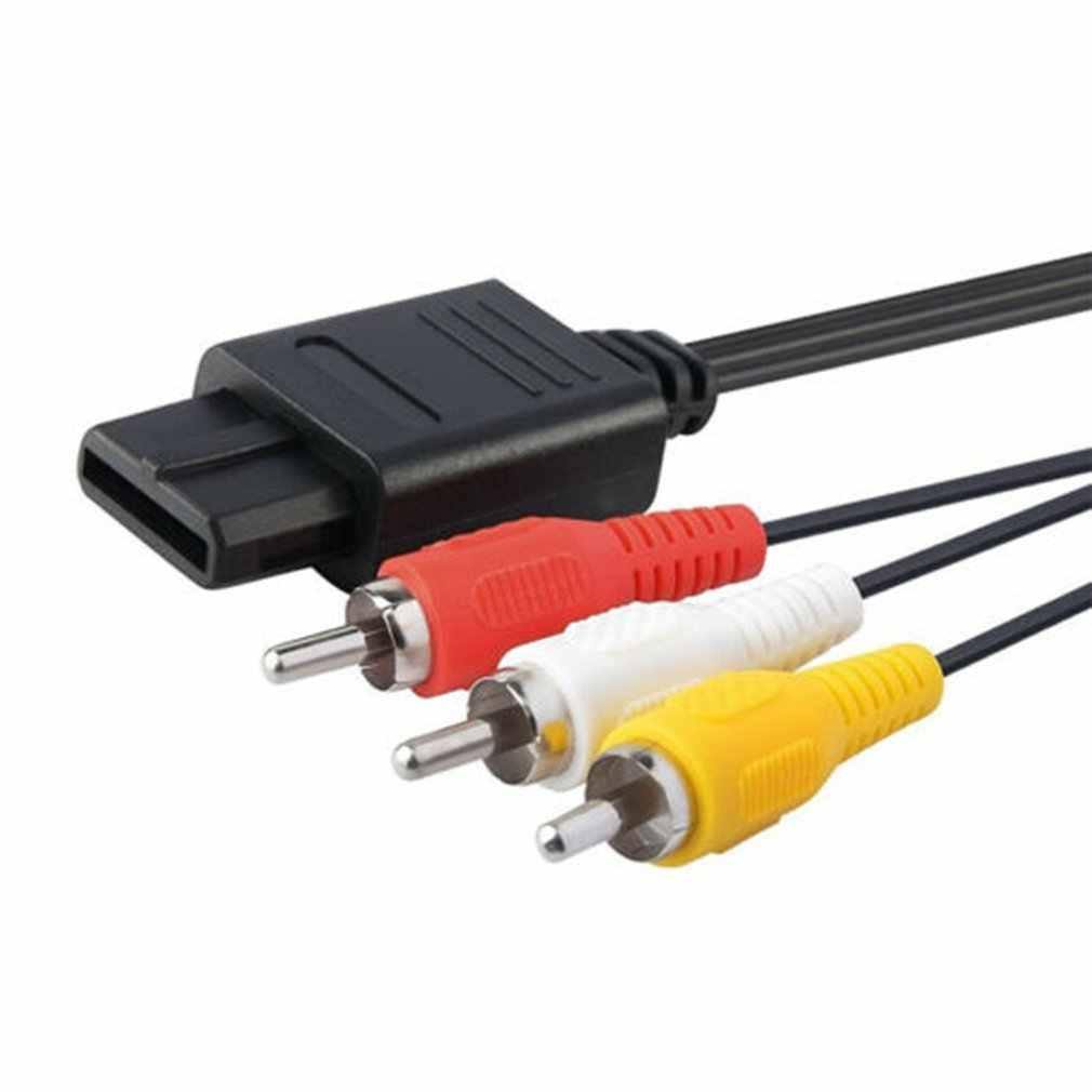 N64 SNES Gamecube 6FT RCA AV TV Audio Video Cable estéreo Cable para Nintend 64 exquisitamente diseñado duradero