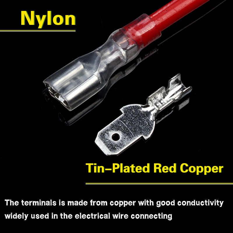 200 Pcs/100Pairs Mannelijke/Vrouwelijke Spade Crimp Terminals Elektrische Isolerende Mouw Draad Wrap Connector Voor 22-16 Awg 0.5mm2-1.5mm2