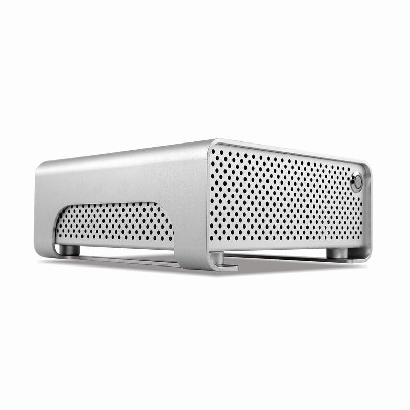 METALFISH MetalGear Plus Aluminum Mini HTPC Case Mini ITX Cases Computer Gaming PC Desktop Case With Power Supply Pico PSU