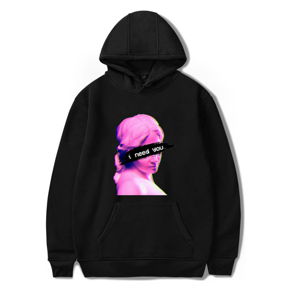 Vaporwave Art Hoodies Autumn Harajuku Hoodies Men Women Hoodies Vaporwave Print I Need You Sweatshirt Personality Couple Hoodies