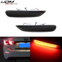 Ijdm led バンパーリフレクターマーカーライトインフィニティ Q50 QX30 QX60 QX56 QX80 日産 led ブレーキライト w/シーケンシャルターン信号