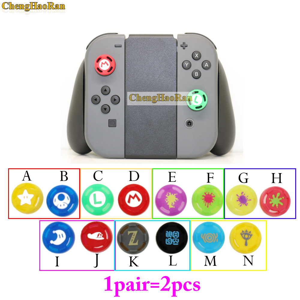 2pcs Mario Silicone Analog Stick Grips Caps For Nintend Switch NS JoyCon Controller Sticks Cap Skin For Joy Con Cover