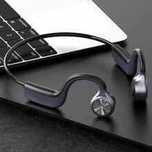 Bluetooth 5.0骨伝導ヘッドセットオープン耳ワイヤレスヘッドフォンとノイズリダクションマイクIPX5イヤホン用