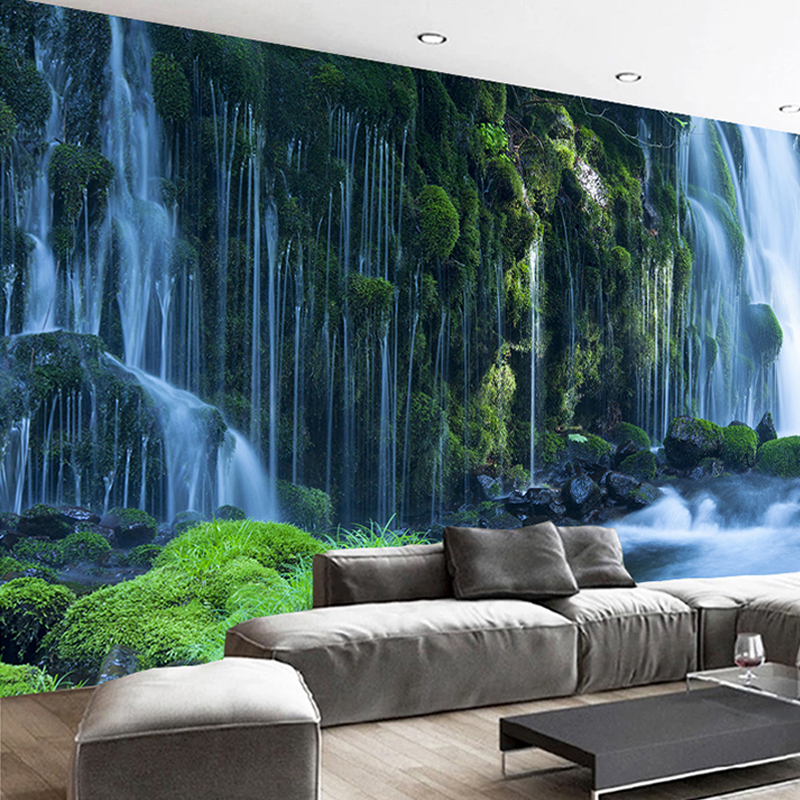 3D Wallpaper for Room Balcony Beautiful Waterfall Scenery Custom Photo Wallpaper