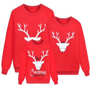 SAILEROAD New Family Matching Children Clothing Christmas Sweaters Deer Print Family Parent-child Suit Printing Cotton Sweater