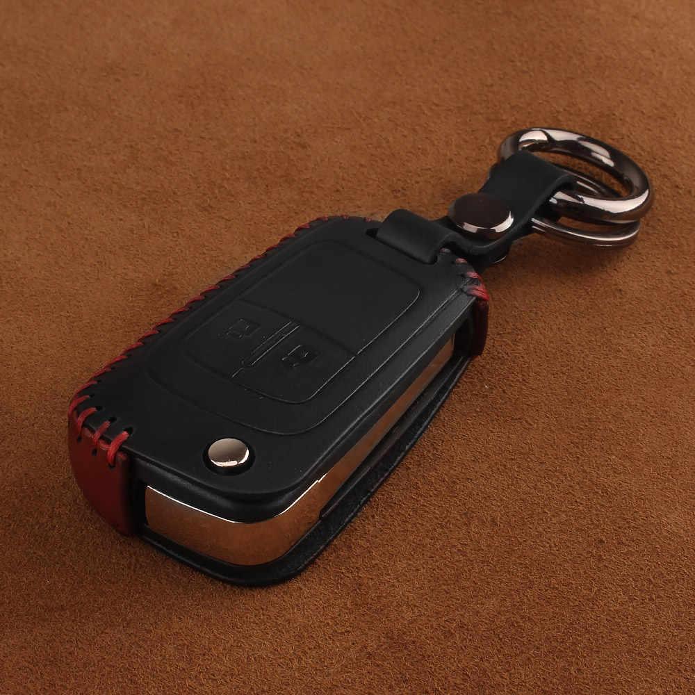 KEYYOU עור keychain רכב מפתח כיסוי מקרה עבור שברולט Cruze Epica לובה עבור אופל ווקסהול אסטרה H Insignia J Vectra C Corsa