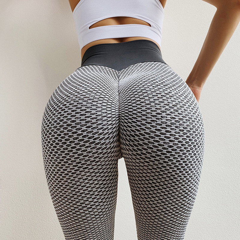 NORMOV Knitting Leggings Fitness High Elasticity Breathable Sexy Women Leggings Workout Quick Drying Slim High Waist Leggings