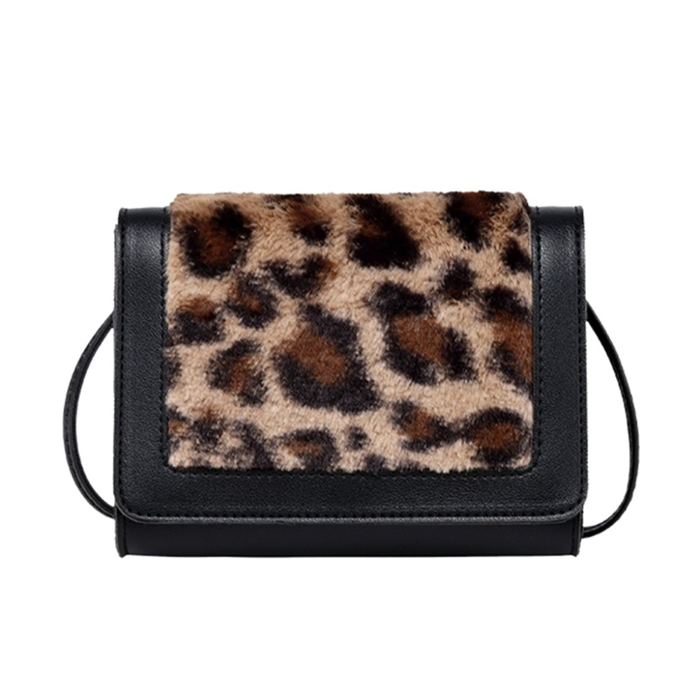 Women Bags Mini New Fashion Plush Bag 2019 Leopard Shoulder Messenger Bag Small Square Bag bolsa feminina (39)