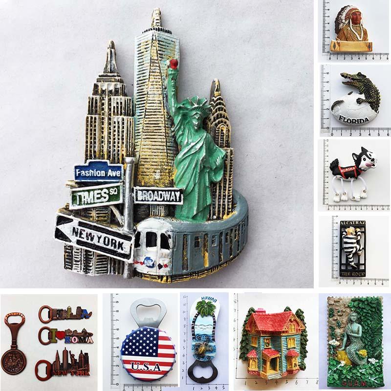 Магниты на холодильник, открывалка для бутылок, Нью-Йорк, туристические сувениры, магнитные наклейки на холодильник, коллекционные декорат...