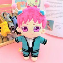 Peluche de dessin animé Saiki k-uoozii, 7.8 pouces/20cm avec vêtements de poupée Kawaii