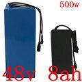 Аккумуляторная батарея 48 в 500 Вт  48 в 8 А · ч  литиевая батарея 48 в 8 А · ч с зарядным устройством 15A BMS и 54 6 в 2 А