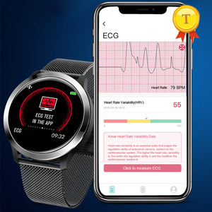 Image 3 - أفضل بيع ecg ppg smartwatch الرجال النساء IP68 وريستباند ضد الماء relogio معدل ضربات القلب النوم مراقبة الرياضة ساعة ذكية