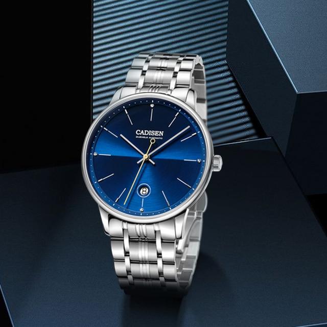 CADISEN reloj mecánico automático para hombre, reloj de pulsera militar, resistente al agua, de acero inoxidable, Masculino