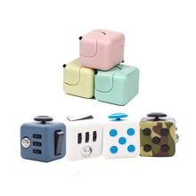 Squeeze stress aliefer presentes dice cubo antiestresse ansiedade brinquedo diversão stress alivia para crianças adulto crianças mesa dedo rotação brinquedos
