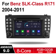 цена на 2 Din Car Multimedia Player Android 9 Auto Radio For Mercedes Benz SLK Class R171 2004~2011 NTG DVD GPS 8 Cores 4GB+32GB BT