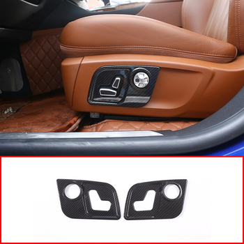 For Maserati Levante For Ghibli For Quattroporte Car-Styling Seat Side Decorate Frame Cover Trim Carbon fiber Style ABS Plastic