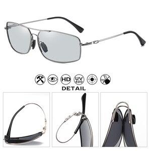 Image 4 - 2020 moda pamięci metalowe okulary przeciwsłoneczne mężczyźni spolaryzowane fotochromowe dzień okulary do jazdy nocą kobiety przebarwienia soczewki lentes de sol