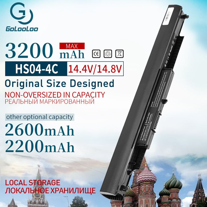 Golooloo 4 Cells HSTNN-LB6V 807957-001 Laptop Battery For HP Pavilion 14-ac0XX 15-ac0XX HSTNN-LB6U HS03 HS04 240 245 250 255 G4