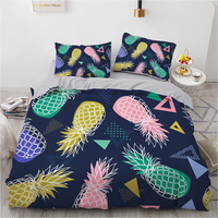 Colored pineapple Nordic bed 135 Bedding Set Bed Linen Duvet Cover Pillowcase Single Double Queen King Bedclothes Children Adult