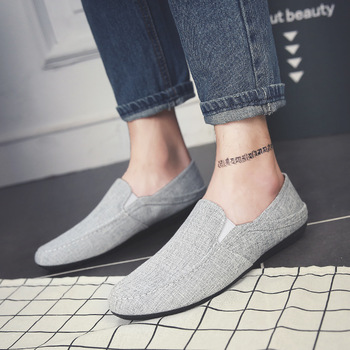 Neutral Fashion Leisure Soft Comfy Summer Men Loafers Solid Concise Flat Driving Shoes Classics Retro Slip On Shoes jki89
