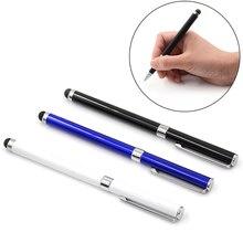 1 шт. 2в1 многофункциональная ручка с сенсорным экраном емкостный стилус для смартфона планшета