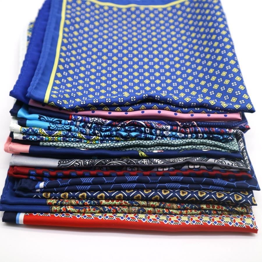 2019 SALE Popular 32 X 32 CM Large Handkerchief Man Paisley Flower Dot Pocket Square Men Paisley Casual Hankies For Men's Suit