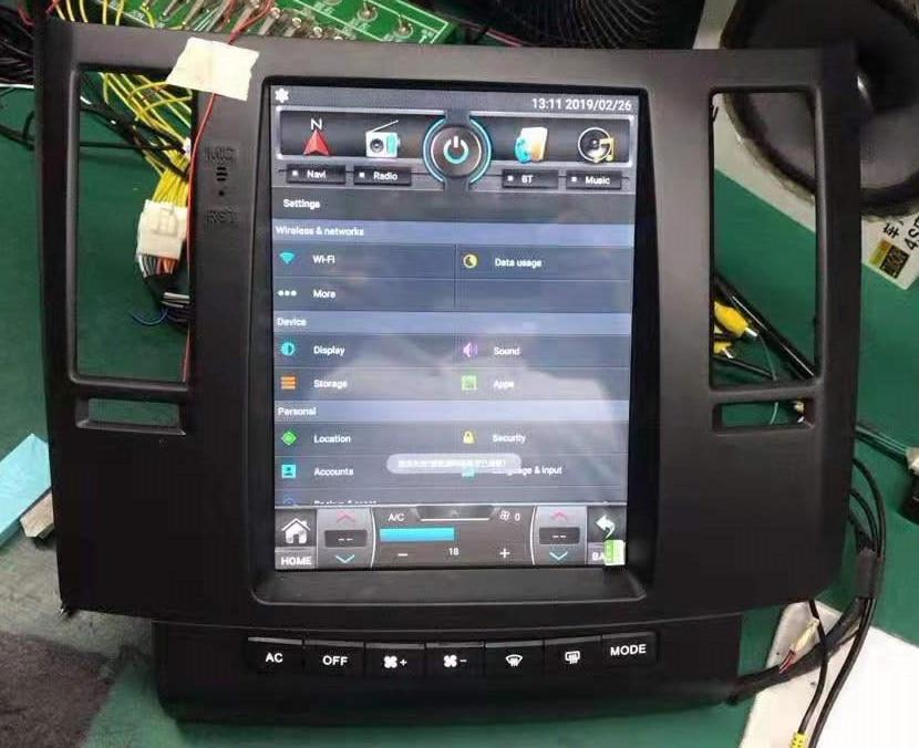 "10.4 ""Octa verticale noyau Android 8.1 voiture stéréo GPS navigation pour Infiniti FX35 FX45 2003-2005 support DSP carplay"