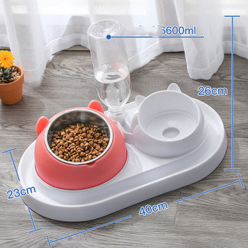 600ml Pet Dog Cat Automatic Feeder Bowl for Dogs Drinking Water Bottle Kitten Bowls Slow Food Feeding Container Supplies 17