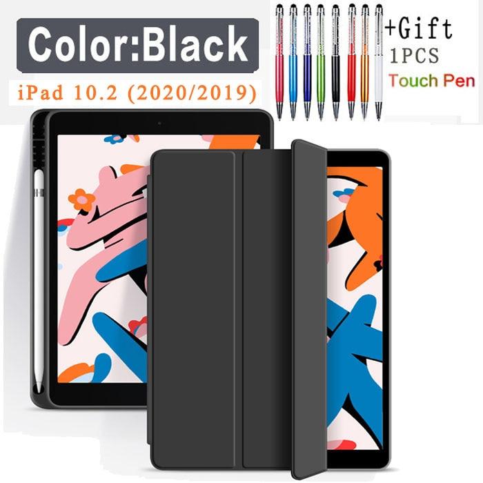 Flip Case-Black Green Funda Case For Apple iPad 10 2 2020 2019 flip Case with Pencil Holder For iPad