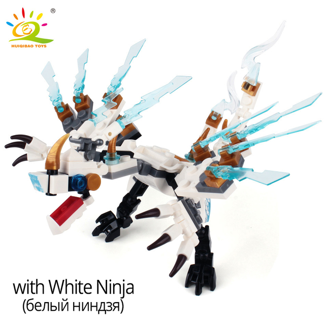 HUIQIBAO Ninja Dragon Building Blocks Bricks set Ninja KAI JAY ZANE Cole Figures movie series educational Toys for Children