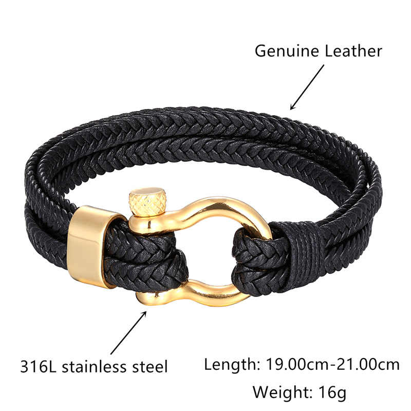 Hoge Kwaliteit Titanium Stalen Armband mannen Armband Zwart Persoonlijkheid multi-layer Lederen Armbanden Vrouwen Armband Gift Pulseira