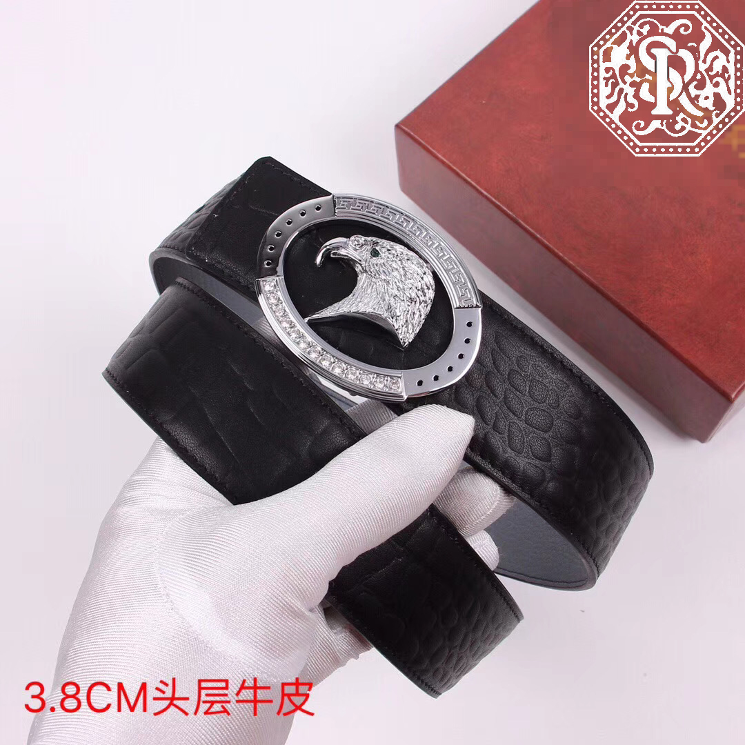 BILLIONAIRE Belts Cowhide  Men 2020 New Arrival Fashion Casual Geometry Buckle Excellent Size 100-125CM Free Shipping
