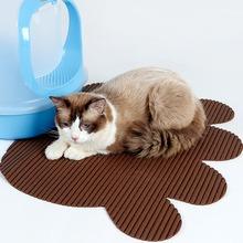 Pcv Pet Dog Cat podkładka do karmienia Pad Cute Paw miska miejsce karmienia Puppy czerwony koc maty stołowe łatwe czyszczenie produkty dla zwierzaka domowego tanie tanio CN (pochodzenie) Other CT190924B5